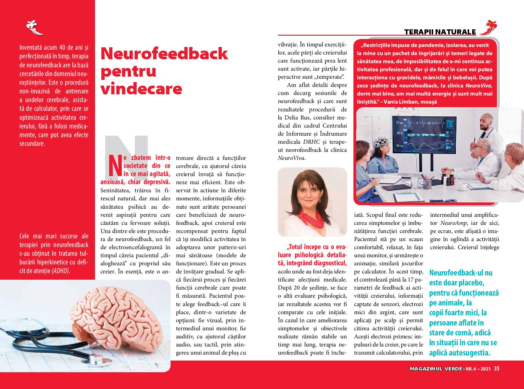 neurofeedback pentru vindecare